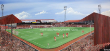 Middlesbrough 'Farewell Ayresome Park'  20'' x 30'' Box Canvas